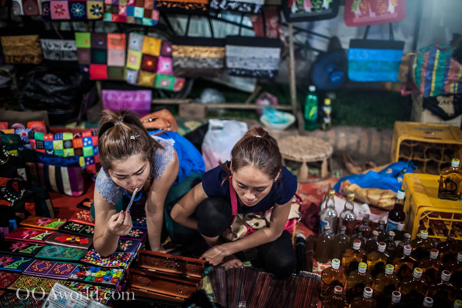 Sisters Luang Prabang Night Market Photo Ooaworld