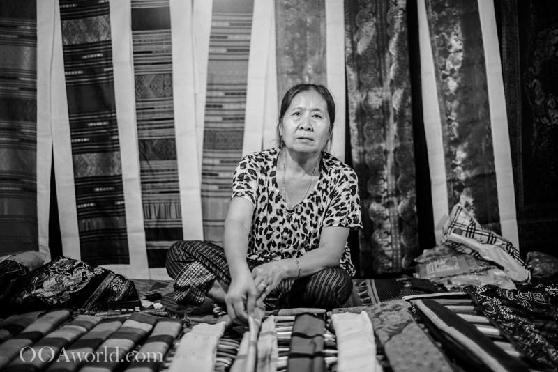 Portrait Woman Luang Prabang Laos Night Market Photo Ooaworld