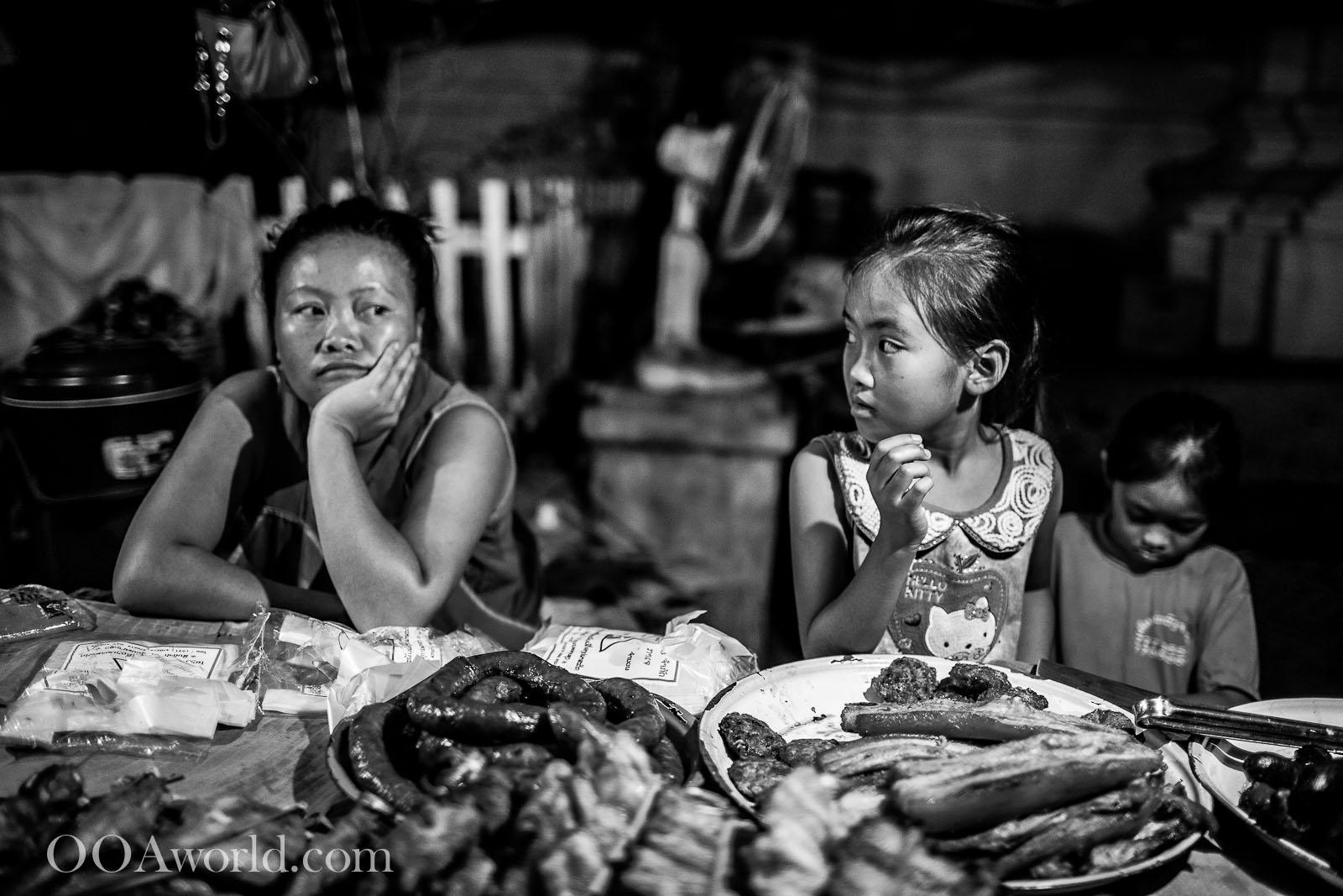 Luang Prabang Night Food Market Laos Photo Ooaworld