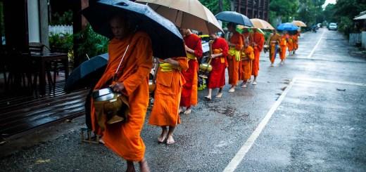 Luang Prabang Alms Giving Photo Ooaworld