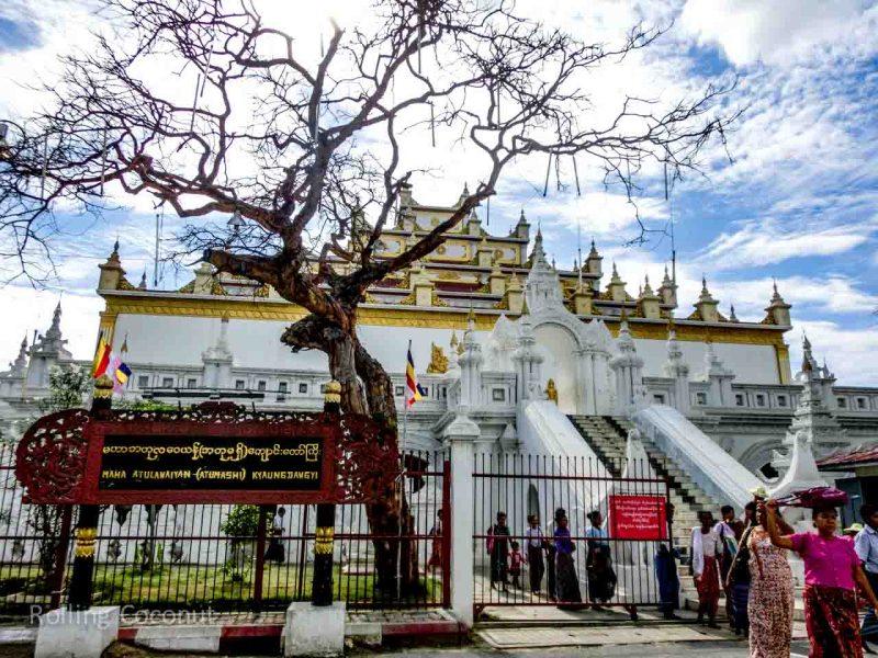 Myanmar Itinerary Mandalay Maha Atumashi Monastery Rolling Coconut Ooaworld Photo Ooaworld