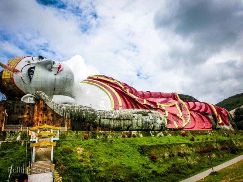 Myanmar Itinerary Mawlamyine Reclining Buddha Rolling Coconut Ooaworld Photo Ooaworld