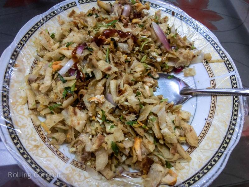 Kottu Roti Chopped Street Food Jaffna Sri Lanka ooaworld Rolling Coconut Photo Ooaworld