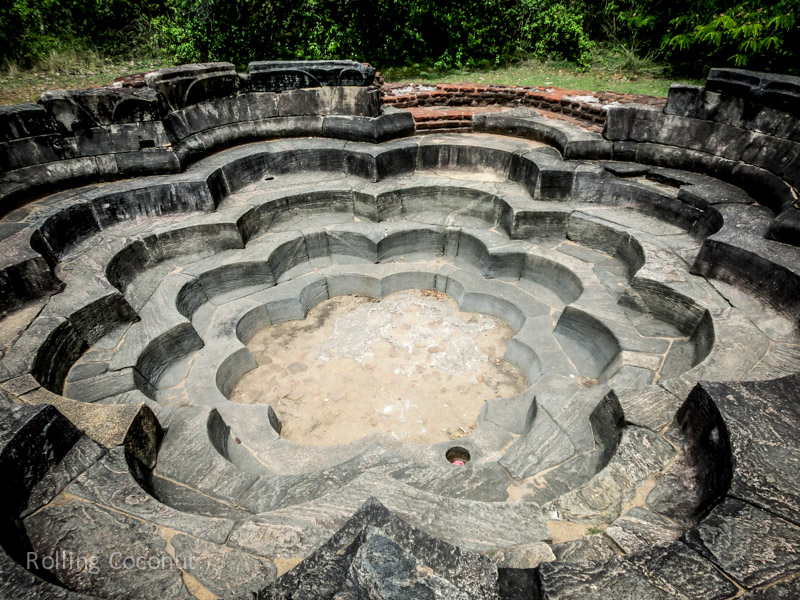 Pokuna Los Shaped Ponds Polonnaruwa Sri Lanka ooaworld Rolling Coconut Photo Ooaworld