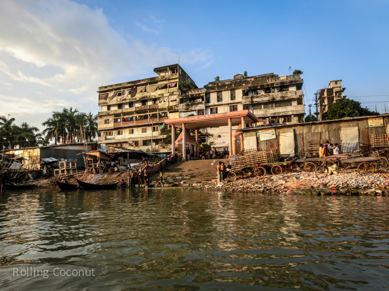 Bangladesh Dhaka Sadarghat Buriganga River pier ooaworld Rolling Coconut Photo Ooaworld