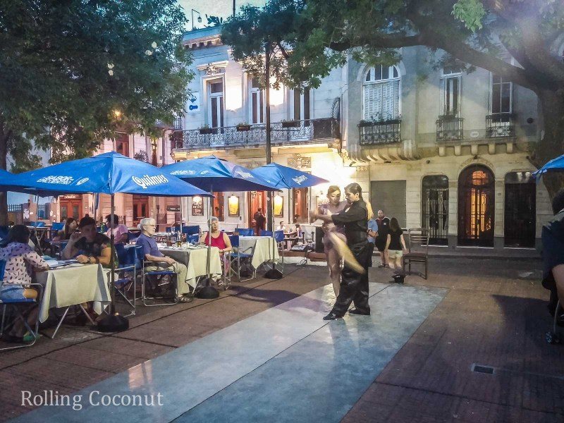 Argentina Buenos Aires San Telmo Tango Rolling Coconut OOAworld Photo Ooaworld