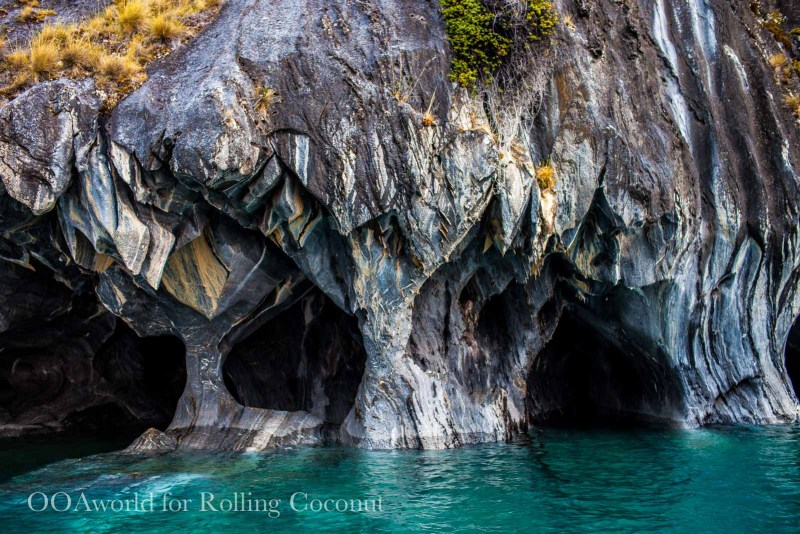 Puerto Rio Tranquilo Chile Caves Blue Water Rolling Coconut OOAworld Photo Ooaworld