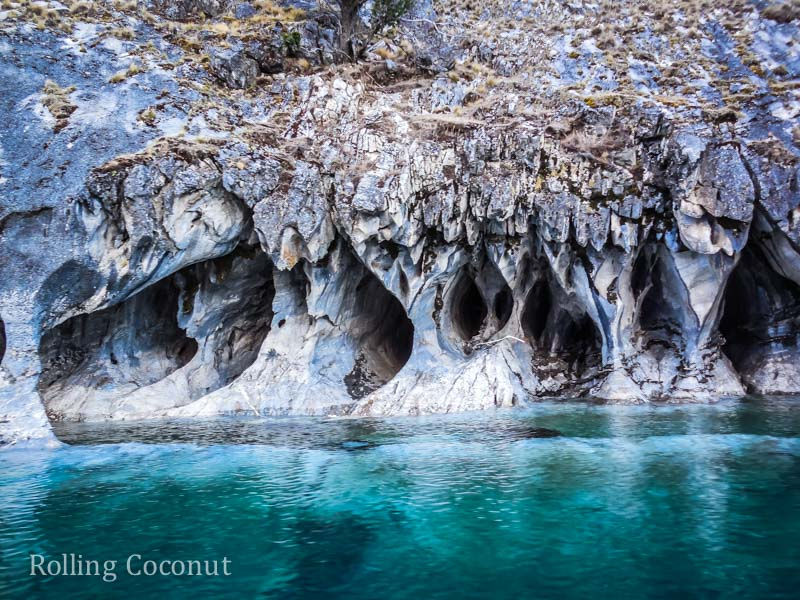 Puerto Rio Tranquilo Chile Waterfront Marble Caves Sanchez 4 Rolling Coconut OOAworld Photo Ooaworld
