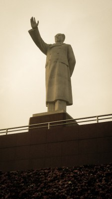 Chairman Mao, overlooking avenues of shopping and US fast food chains in Chengdu