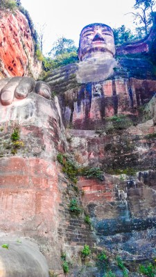 A UNESCO World Heritage Site, the Giant Buddha sitting in Leshan