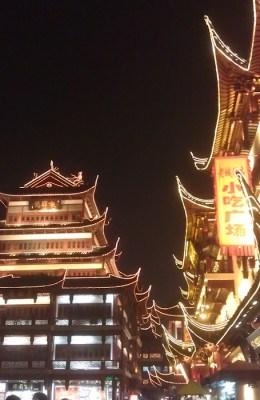 The Night Bazaar by the Yu Yuan Garden