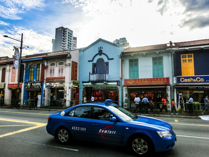 Singapore little india houses photo ooaworld Rolling Coconut