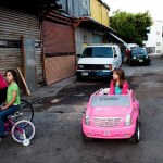 Shot of children with different toys, Tijuana
