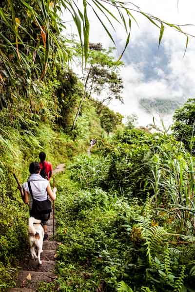 batad rice terraces hike start philippines photo ooaworld Rolling Coconut