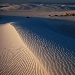 Sunset dunes, white sands