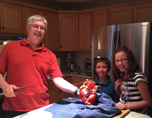 Lobster with family