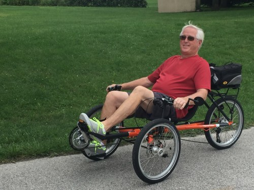 Other Half on Recumbent Bike
