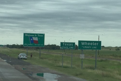 Welcome to Texas along I40 W