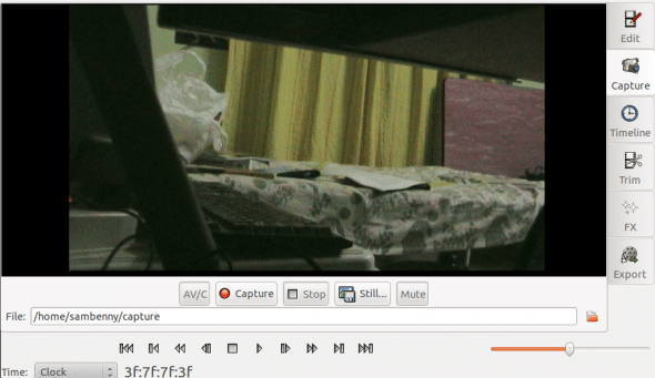 Camcorder recording mode -- preview in Kino