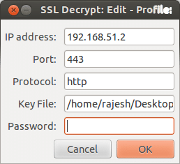 Screenshot1 SSL Decrypt Properties