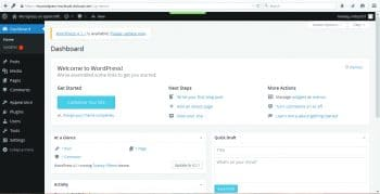 Figure 6:  WordPress Dashboard