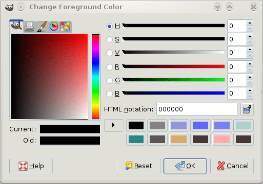 Figure 9: Colour selector