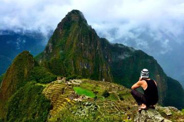 Justin Alexander at Machu Picchu, sacred city of the Inca.