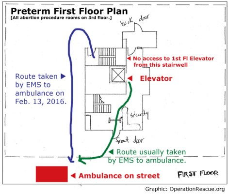 First Floor EMS Route
