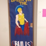 English teacher Christina Cracchiolo's door scored second place in the competition.