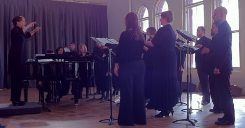 Katherine FitzGibbon conducted Resonance Ensemble at Portland's YU Contemporary in March.