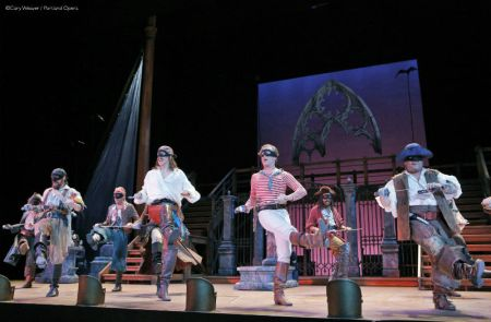 I get a kick out of you. A G&S pirate chorus line. Photo: Cory Weaver/Portland Opera