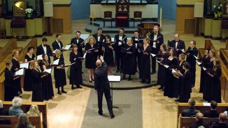 Cantores in Ecclesia performs at the William Byrd Festival.