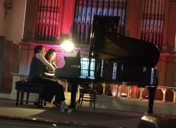 XXDigitus Duo shared a piano at the Old Church.