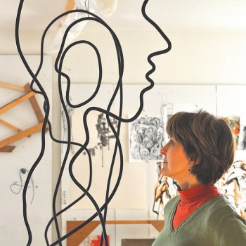 Eugene visual artist Lillian Almeida's wire sculptures grace a concert at Beall Concert Hall Nov. 12.