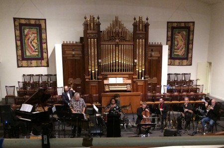 Some of Portland's finest musicians performed Darrell Grant's 'The Territory' at First Unitarian Church.