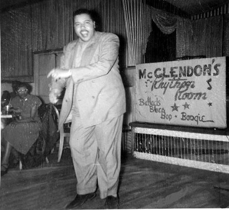 Pianist and bandleader Warren Bracken stepping out at McLendon's in Portland in the 1950s.