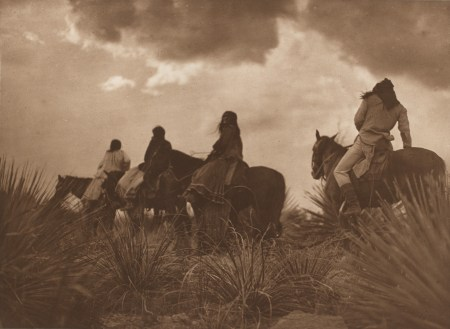 "Edward Sheriff Curtis (American, 1868–1952), ""Storm – Apache,"" 1906, plate 9 from the portfolio The North American Indian, volume 1, photogravure, gift of Henrietta E. Failing"