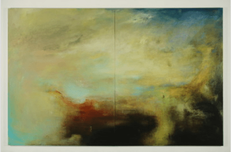 Helen O'Toole, Mary Larkin's Bottom, 2013, 100 x 156 inches, Oil on canvas (diptych)