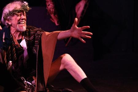 Tobias Andersen as Lear: a rage upon the heath. Post5 Theatre photo