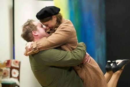 "Heath Koerschgen and Danielle Weathers in ""Davita's Harp."" Photo: Friderike Heuer"