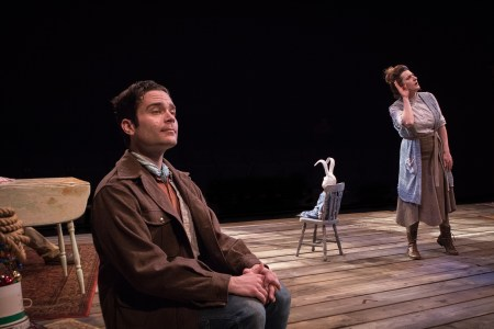 Luster, Edward in the chair, Newton: a battle of wills. Photo: Owen Carey