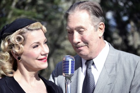 """Shirley Andress and Steve Wehmeier play adversaries who begin to fall for each other in the Radio Redux production of """"It Happened One Night."""" Photo: Marti Gerdes."""