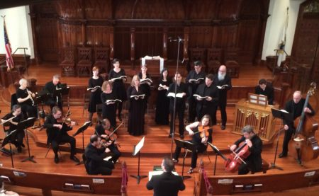 Patrick McDonough led The Ensemble and orchestra in JS Bach's Mass in b minor at Portland's First Presbyterian Church.