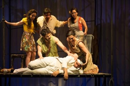 """Jamie Ann Romer, Triney Sandoval, Nancy Rodriguez in """"The River Bride."""" Photo: Jenny Graham, Oregon Shakespeare Festival"""