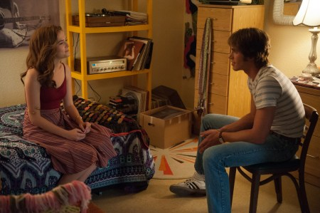 Zoey Deutch plays Beverly and Blake Jenner plays Jake in Everybody Wants Some from Paramount Pictures and Annapurna Pictures.