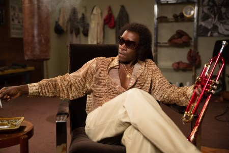 Don Cheadle as Miles Davis Photo by Brian Douglas, Courtesy of Sony Pictures Classics