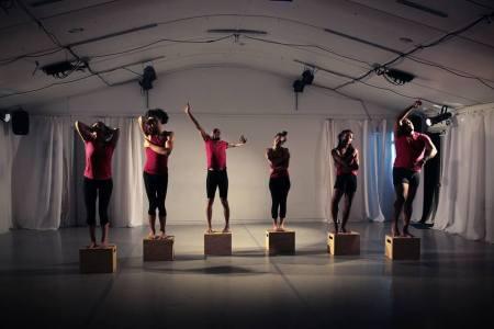 "Rejoice! Diaspora Dance Theater || ICONS ""Onward"" Choreography by Jamie Minkus, June 2015 — with Sara Mo, Michael Galen, Lin Lucas, Marisa Ferro, Uriah Boyd and Dar Vejon Jones."