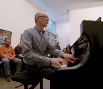 FearNoMusic pianist Jeffrey Payne at Blue Sky Gallery.