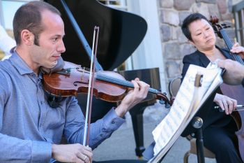 Crosa and Chang performed at Timberline Lodge..