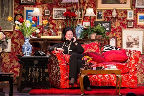 Boulé as Vreeland in her implausible Manhattan apartment. Triangle Productions photo.